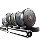 XMark Voodoo Commercial 7' Olympic Bar Plus 390 lbs of XMark HI-Impact Low Bounce Virgin Rubber Olympic Bumper Plates