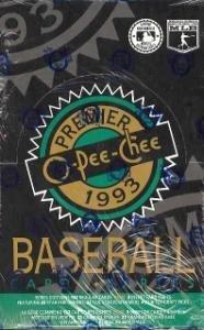 1993 O-Pee-Chee Premier Baseball Cards Unopened Wax Box