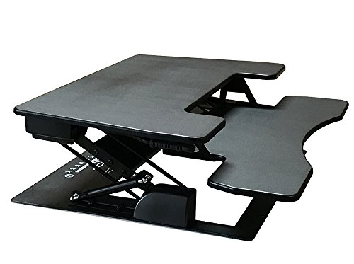 Fancierstudio Riser Desk Standing Desk Extra Wide 38 Quot Fits