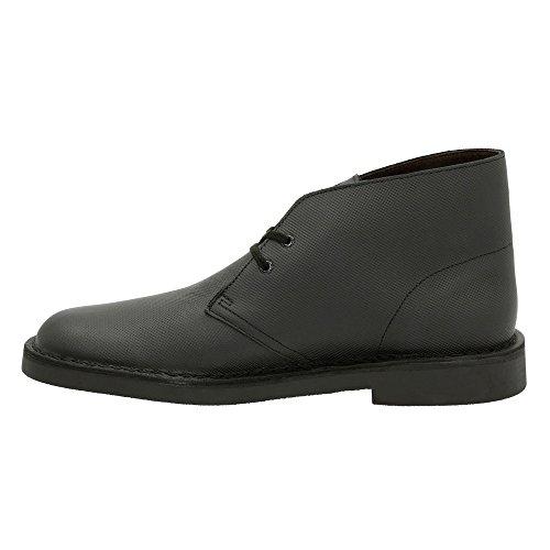 Clarks Mens Bushacre 2 Chukka Boot Nero Perf