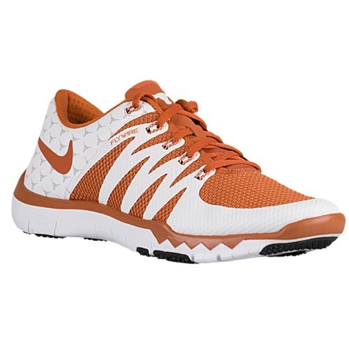 Men's Nike Nike Free Trainer 5.0 V6 AMP (Texas Longhorns) Training Shoe White/Light Ash Grey/Desert Orange (12 M US, - Texas Light Longhorns