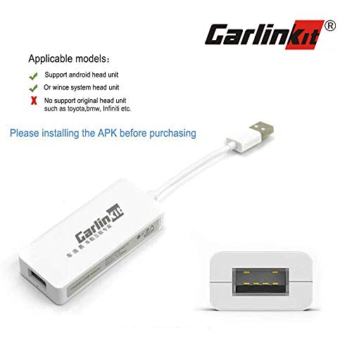 USB Carplay Dongle,Android Auto, Mirroring, Mini Smartphone Link Receiver Adapter Auto Navigation Multimedia Player for Android Head Unit