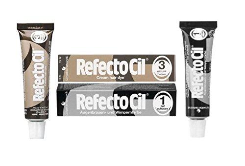 Refectocil Twin Pack Black n Natural Brown Cream Hair Dye, , 15ml X 2 by RefectoCil
