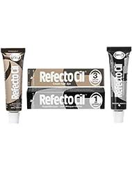 Refectocil Twin Pack Black n Natural Brown Cream Hair Dye, , 15ml X 2