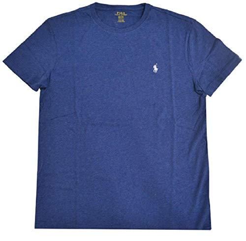 Polo Ralph Lauren Mens Crew Neck T-Shirt (Large, Blue (Light Blue Pony))