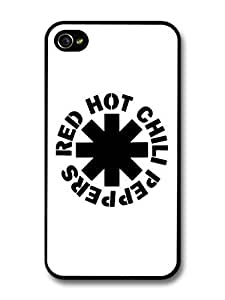 Accessories Red Hot Chili Peppers Rock Band RHCP Black Logo case for iPhone 4 4S