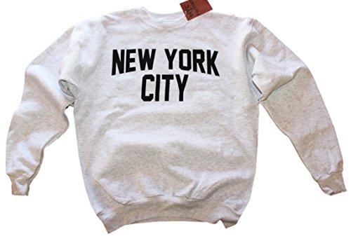New York City Mens Shirt Screenprinted Ash Gray Adult Lennon Sweatshirt M (City York New Sweatshirt)