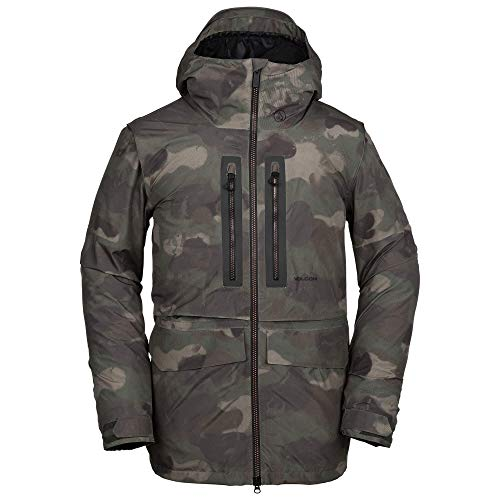 Volcom Men's Stone Gore-Tex 2 Layer Laminate Snow Jacket, Camouflage, Extra Large