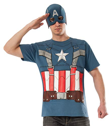 Marvel Rubie's Costume Men's Universe Captain America The Winter Soldier T-Shirt