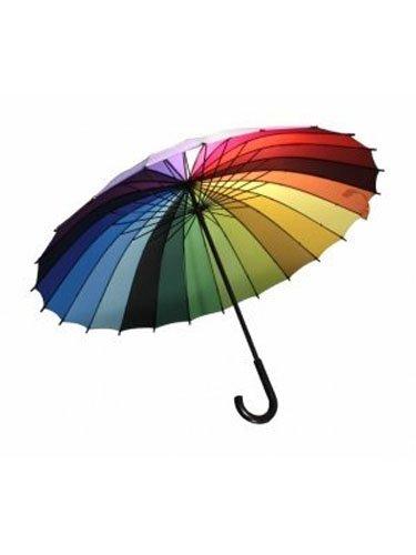 Streamline Rainbow Color Wheel Umbrella