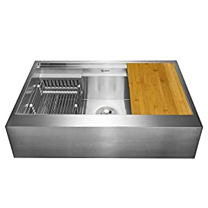 41lBP5AAtJL._SS300_ 75+ Beautiful Stainless Steel Farmhouse Sinks For 2020