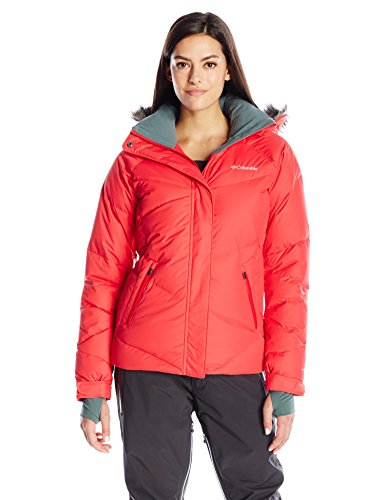 Columbia Women's Lay D Down Jacket, Red Camellia, X-Large (Columbia Womens Winter Coats)