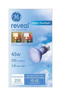 GE Lighting 73439 45-Watt R20 Reveal Floodlight Light Bulb -