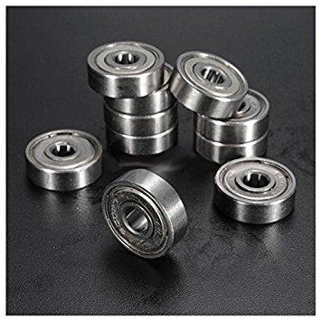 Metal Shielded Bearing - TOOGOO(R) 10pcs Miniature Sealed Metal Shielded Metric Radial Ball Bearing Model: 627-ZZ 7x22x7Mm