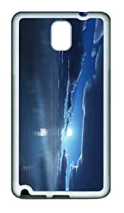 cover designer Moon over Sea TPU White case/cover for samsung galaxy note 3 N9000