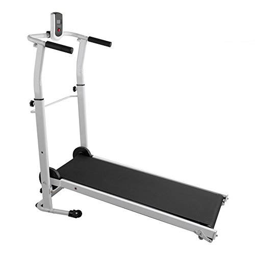 Beshomethings Folding Manual Treadmill Running Jogging Walking Machine Portable Gym Equipment for Fitness Workout and Home Exercise