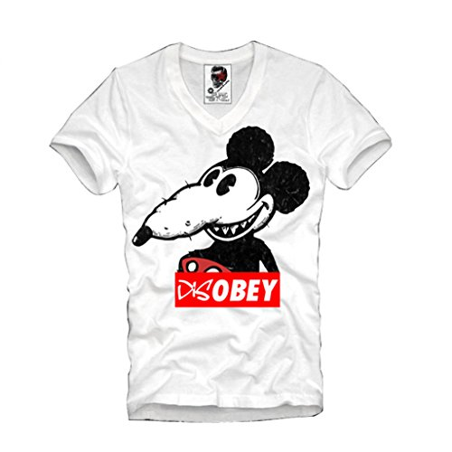Price comparison product image E1SYNDICATE V-NECK T-SHIRT DOPE DISOBEY MICKEY RAT WASTED YOUTH LAST KINGS HBA S-XL