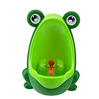 Bigoct® Green Frog Boys Potty Training Urinal with Whirling Target