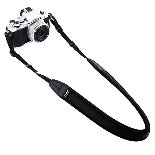 Mirrorless Camera Neck Strap JJC Neck Shoulder Belt Strap for Sony A6500 A6300 A6000 A9 A7 III Fujifilm X-PRO2 X-T20 X-T2 X-A10 X-A5 X-E3 X-E2S Olympus E-M10 E-M5 E-PL8 PEN-F Canon M100 M10,etc -Black