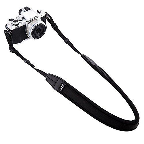 Olympus Strap - Mirrorless Camera Neck Strap JJC Neck Shoulder Belt Strap for Sony A6500 A6300 A6000 A9 A7 III Fujifilm X-PRO2 X-T20 X-T2 X-A10 X-A5 X-E3 X-E2S Olympus E-M10 E-M5 E-PL8 PEN-F Canon M100 M10,etc -Black