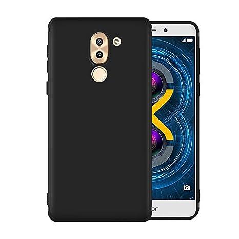 Olliwon Funda Huawei Honor 6X, Ultra Slim Silicona TPU Carcasa Anti-Arañazos y Antideslizante 360 Cover Case para Huawei Honor 6X Nergo