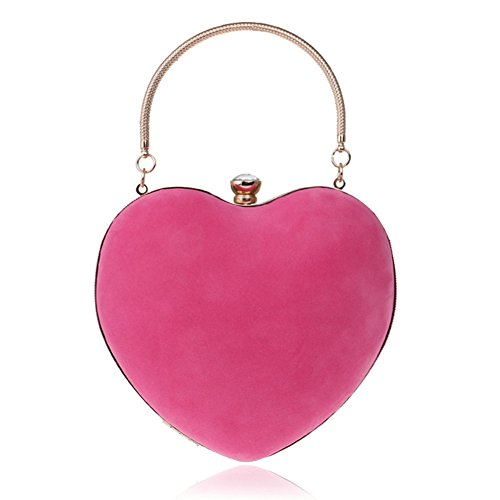 OVOV Material Women's Shoulder Chain Rose Heart Evening Crossbody Bag Handbag Fashion Shaped Women's Suede nbsp;with qYS1qngB
