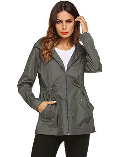 zhenwei rain Coats for Women Lightweight Lined Light Weight rain Wind Jacket (Rain Wind Jacket)