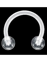 "16G 5/16"" - Clear Bioplast Flexible Acrylic Circular Barbell"