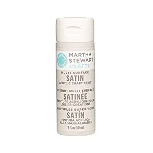 Martha Stewart Crafts Multi-Surface Satin Acrylic Craft Paint in Assorted Colors (2-Ounce), 32077 Lake Fog