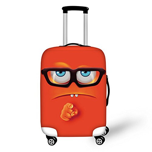 30' Luggage (FOR U DESIGNS 26-30 Inch Large Cool Emoji I Want You Design Soft Luggage Cover for Men and Woman)