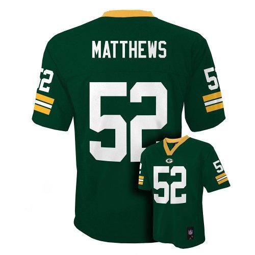 Clay Matthews Green Bay Packers Green NFL Toddler 2013 Season Mid-tier Jersey (2T)