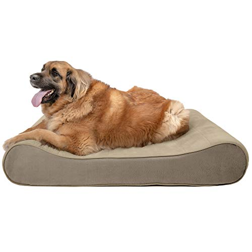 - FurHaven Pet Dog Bed | Orthopedic Microvelvet Luxe Lounger Pet Bed for Dogs & Cats, Clay, Jumbo Plus