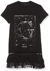 Girls Short Sleeve Mesh Trim Sequin T-Shirt