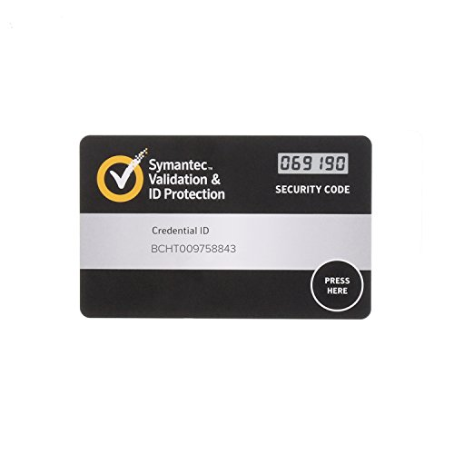 Symantec Vip Security Card 1 Pack