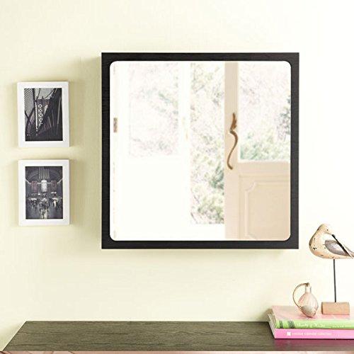 247SHOPATHOME Ynj-825-4 Gaston Contemporary Storage Wall Mirror, Black by 247SHOPATHOME (Image #1)