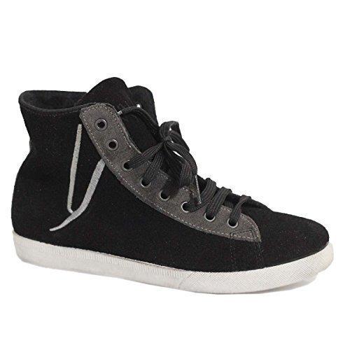 Ovye Cordones Cristina By Para Zapatos Lucchi Mujer De Negro Cuero xXxn5SHrO