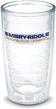 Tervis 1142174 Embry Riddle University Emblem Individual Tumbler, 16 oz, Clear