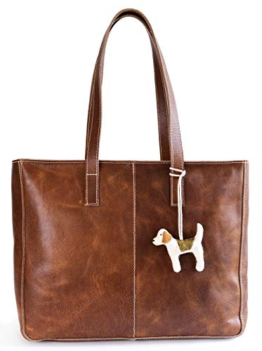 Women's Vintage Genuine Leather Tote Bag for Women - Brown Leather Purse &...