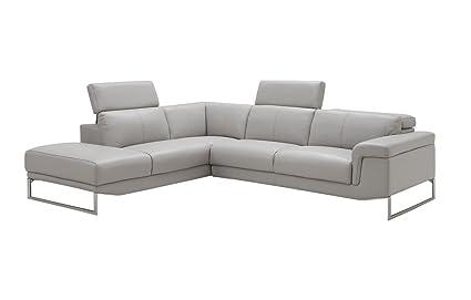 Amazon.com: J and M Furniture Athena LHF Chaise Premium ...
