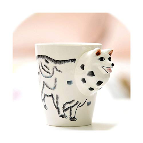 3D Cups Mug Animal Ceramic Mugs Creative Cartoon Giraffe Shape Coffee Cup Heat Resisting Children Birthday Gifts 400Ml,11,Approx 400Ml