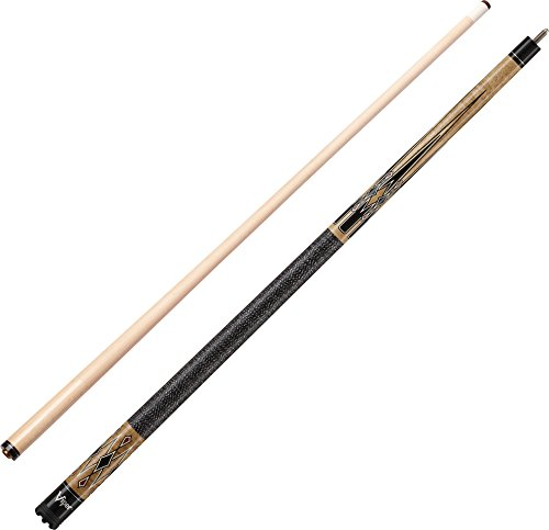 Viper Sinister 58″ 2-Piece Billiard/Pool Cue, Natural Ash with Black Diamonds, 21 Ounce For Sale