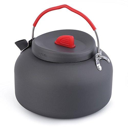 OUTAD outdoor tragbar 1.4L Wandern Camping Wasserkocher Teekanne Kaffeekanne