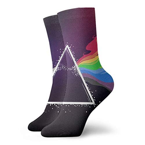 MSONNET Mens Rainbow Rabbits Soft Stretchy Christmas Holiday Cool Casual Dress Socks, Casual Crew Slipper Socks, Assorted Designs -