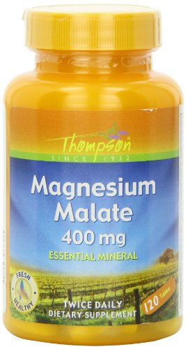 Thompson Magnesium Malate Tablets, 400 Mg, 120 Count Magnesium Malate 120 Tabs