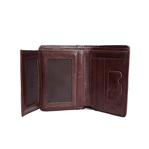 Ubaymax Regalo,porta Vintage,portafogli Con PellecaffèMarrone Credito,vera Confezione Di Tessere,portafoglio Portafoglio Carte Uomo,portafoglio y6fgYb7