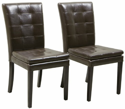 Christopher Knight Home 211651 Barrington Brown Leather Dining Chairs (Set of 2),