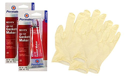 - Permatex High-Temp Red RTV Silicone Gasket Maker (3 oz.) - 2 Pack