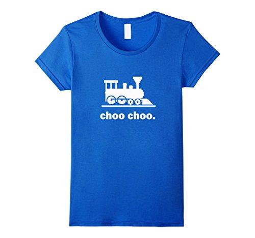 Womens Choo Choo Train T-Shirt - Railway Road Conductor L...