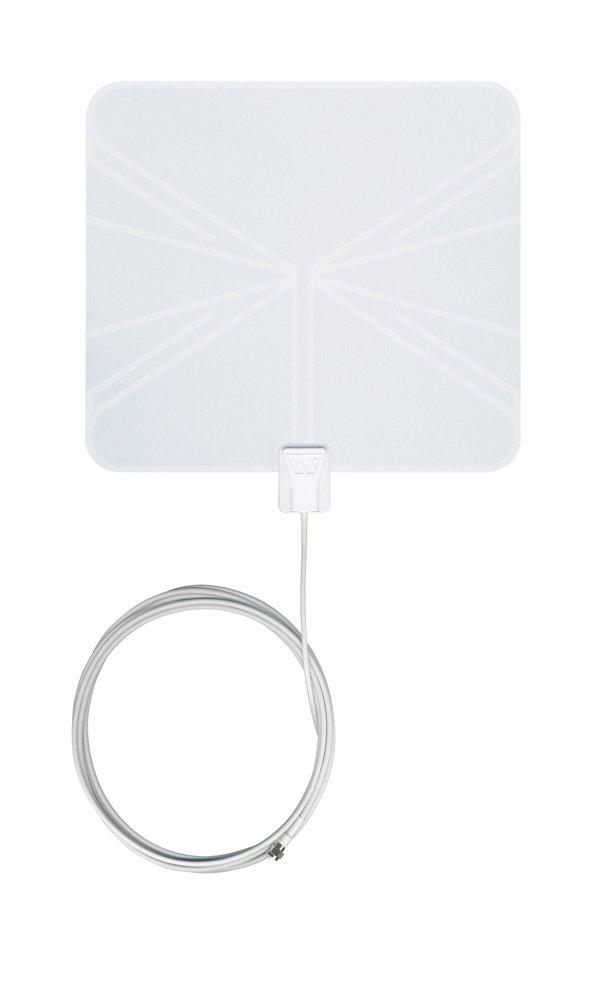 Winegard FlatWave FL-5000 Digital Indoor HDTV Antenna (4K Ready/High-VHF/UHF/Ultra-Thin/Black and White - Reversible) - 35 Mile Long Range