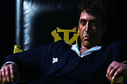 Shower Curtain Company Al Pacino Costume Chair Synthetic Image Scarface Tony Montana Movie Film Poster Fabric